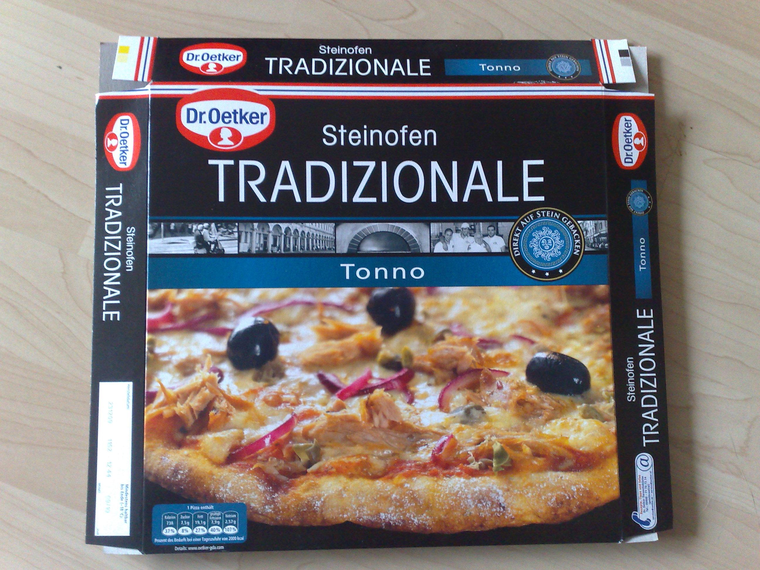 Und heute kommt auch schon direkt der zweite Pizza Test zur Dr.Oetker's Tradizionale. Dieses mal probiere ich die Tonno Variante aus, nachdem ich beim letzten mal ja schon die Salame Pizza probiert habe.